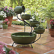 3 tier solar fountain