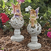 set of 2 solar fairies