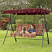 spice stripe patio swing