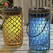 glass mosaic solar lantern