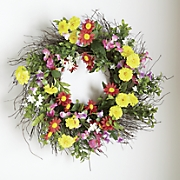 bright flower wreath
