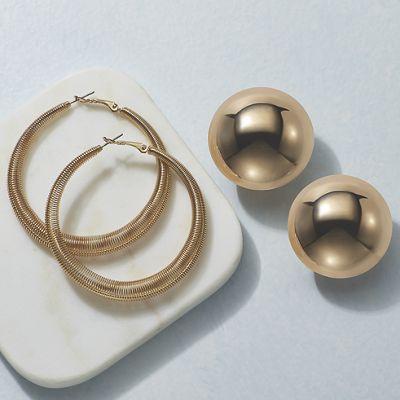 Hoop and Earring Set