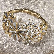 floral hinged bangle