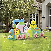 easter train inflatable