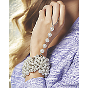 faux pearl hand jewelry