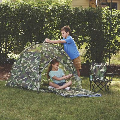 Personalized Camo Chair, Tent and Sleeping Bag Set