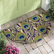 peacock coir mat