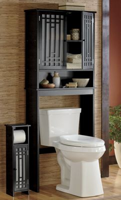 Shoji Bath Space Saver and Toilet Paper Holder