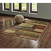 antique panel rug