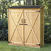 large wooden toolshed