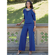 Hailey Cold Shoulder Top & Hailey Wide Leg Pant
