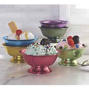 6 pc  ice cream bowl set