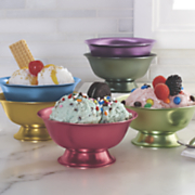 6 pc  ice cream bowl set