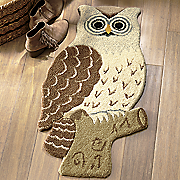 owl cut out rug   1  8  x 2  6