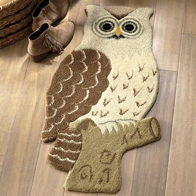 "Owl Cut-Out Rug - 1' 8"" X 2' 6"""