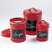Set of 3 Chalkboard Canisters