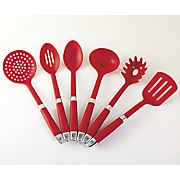 6 pc  delicious red utensil set