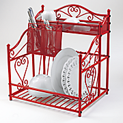 Heart Scroll Dish Drainer