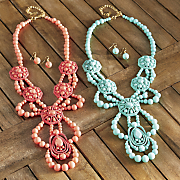 malibu coast necklace earrings set
