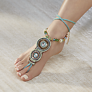 bead and cord foot jewelry