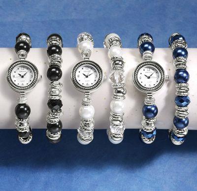 Stretch Watch & Bracelet Set