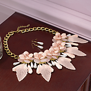 floral necklace earring set