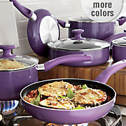 ginny s brand 10 pc  nonstick aluminum cookware set