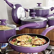 ginny s brand 10 pc  nonstick aluminum cookware set