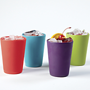 set of 4 assorted melamine tumblers