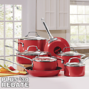 Genesis Cookware 12-Piece Red Aluminum Set by Circulon