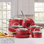 genesis cookware 12 pc  red aluminum set by circulon