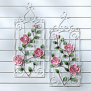 2 pc  rose fence art