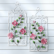 2-Piece Rose Fence Art
