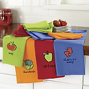 12 pc  embroidered veggie towel set