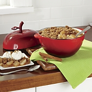 Apple-Shaped 2.4-Qt. Cast Iron Dutch Oven