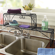 diamond scroll over the sink shelf