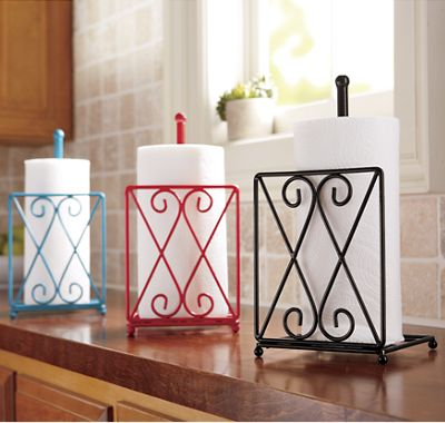 Diamond Scroll Paper Towel Holder