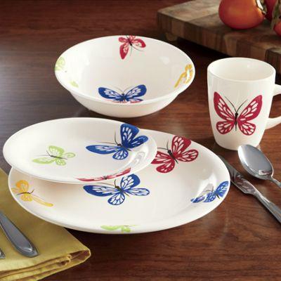 16-Piece Butterfly Dinnerware Set