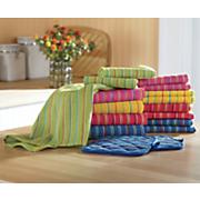 17 pc  assorted capri towel set