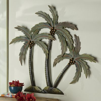 3-D Palm Tree Wall Plaque