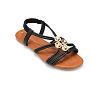 Gathered Strap and Stone Sandal by Seventh Avenue