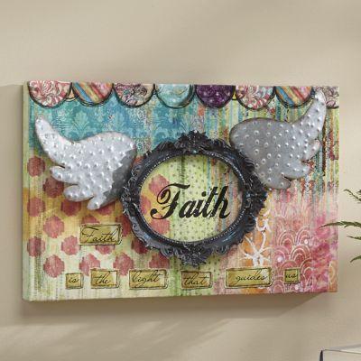 Mixed Media Faith Wall Art