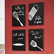 4 pc  kitchen canvas wall art set
