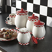 4-Piece Checkered Canister Set