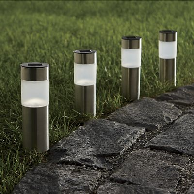 Cylinder Solar Pathway Lights From Seventh Avenue