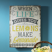 life gives you lemons decoupage