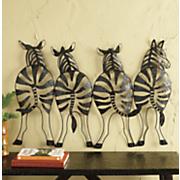 metal zebra wall decor