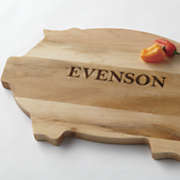 personalized pig cutting board