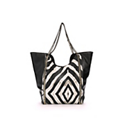 sondra roberts animal tote with chain detail