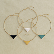 triangle necklace earring set 20